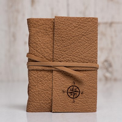 Debossed Compass Leather Journal