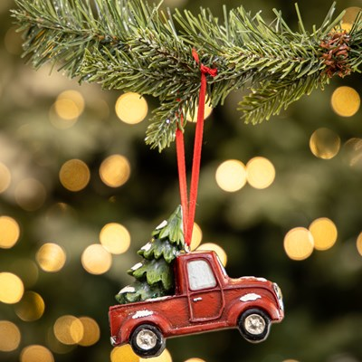 Christmas Tree Delivery Truck Ornament