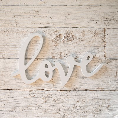 """Love"" Word Wall Decor"