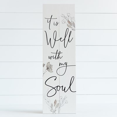 """It Is Well With My Soul"" Pallet Sign"