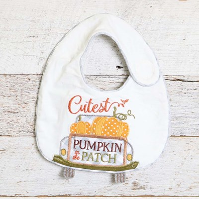 Cutest Pumpkin Embroidered Bib