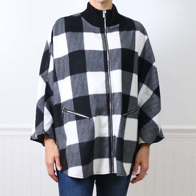 Buffalo Check Sweater Wrap