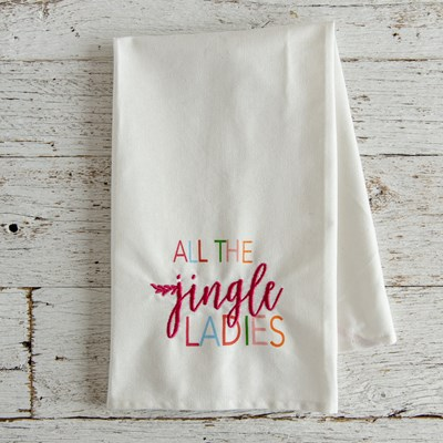 """All The Jingle Ladies"" kitchen towel"