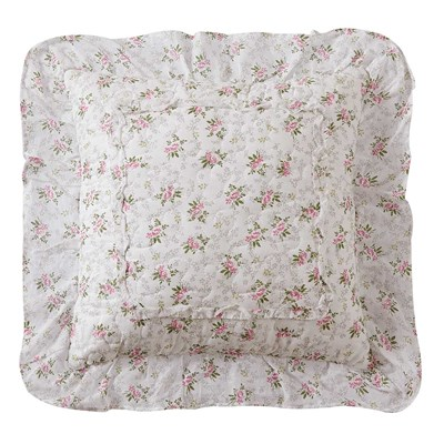 Chelsey Pink Patchwork Pillow - Pink Floral
