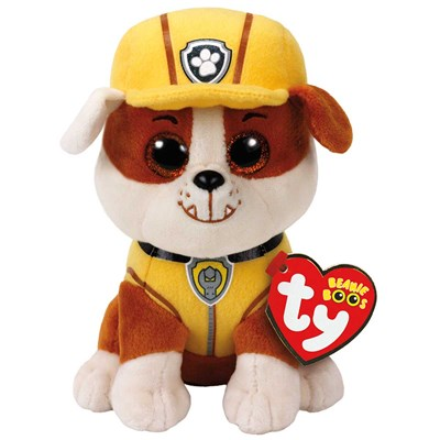 "TY Paw Patrol Rubble the Bulldog 6"" Beanie Boo"