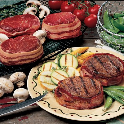 Bacon Wrapped Filet Mignon - Four 6 oz.