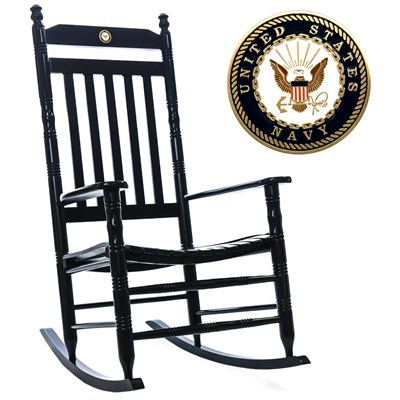 U.S. Navy Fully Assembled Rocking Chair