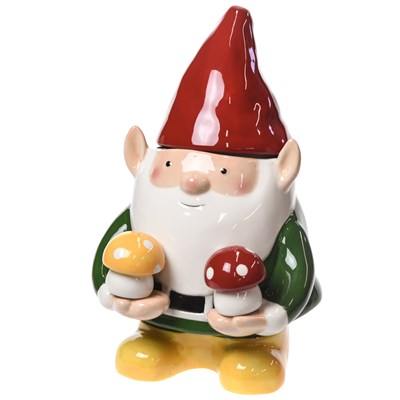 Gnome Cookie Jar and Salt and Pepper Shaker Set