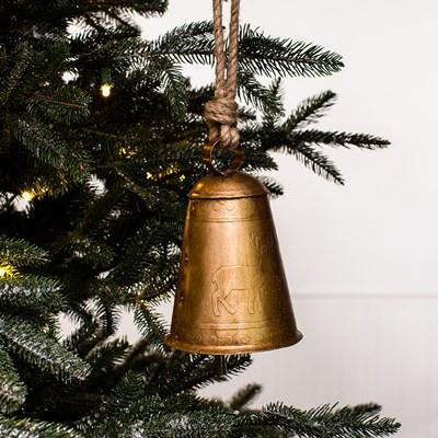 Metal Bell with Deer Ornament