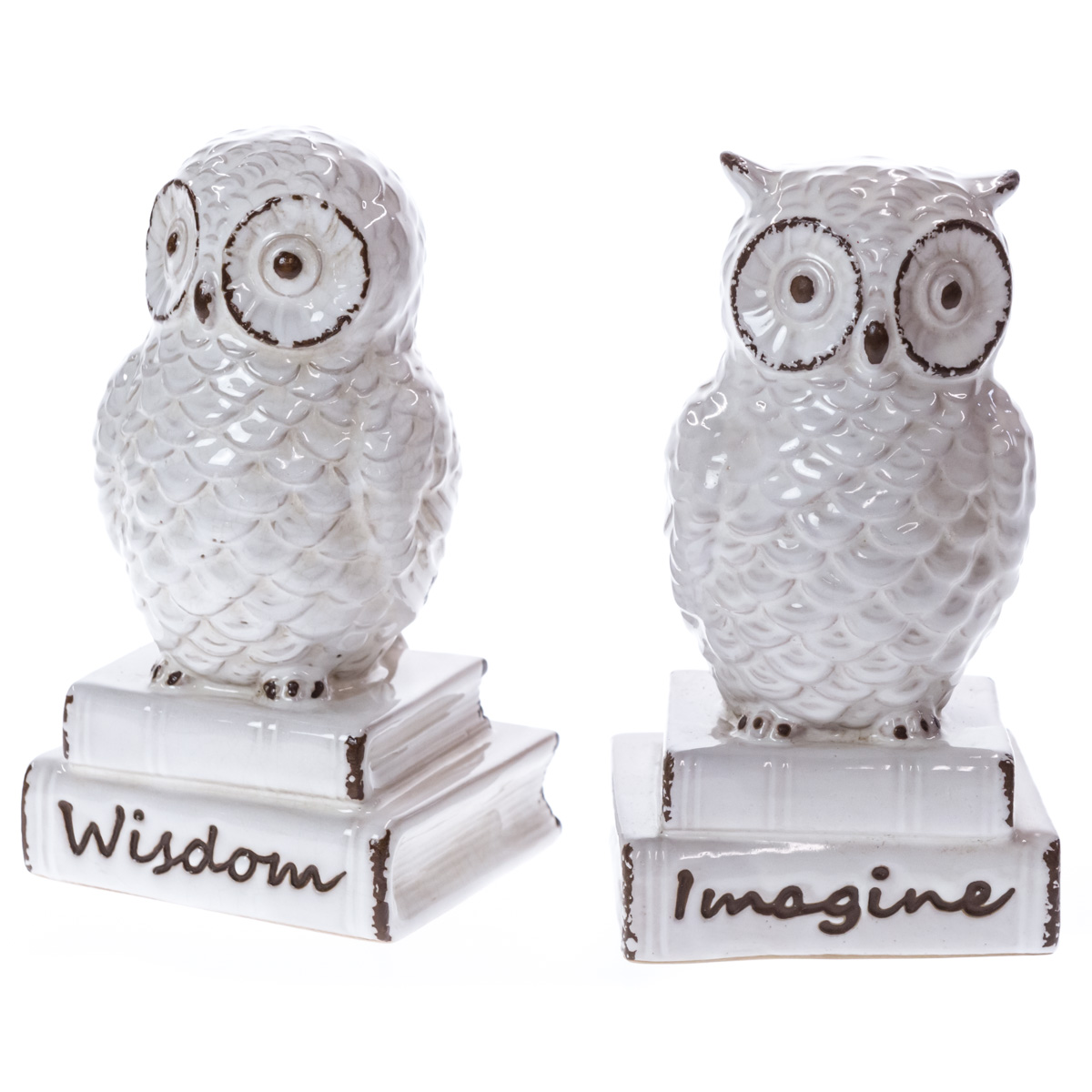 Ceramic Owl Bookends | Collections | Vintage Ivory   Cracker Barrel Old  Country Store