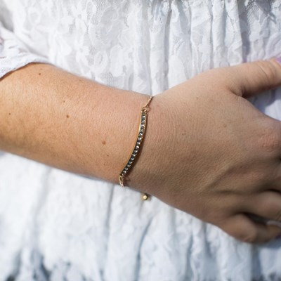 Studded Gold Bar Bracelet