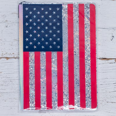 USA Flag Glitter Journal