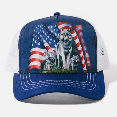 Wolf Flag Trucker Hat