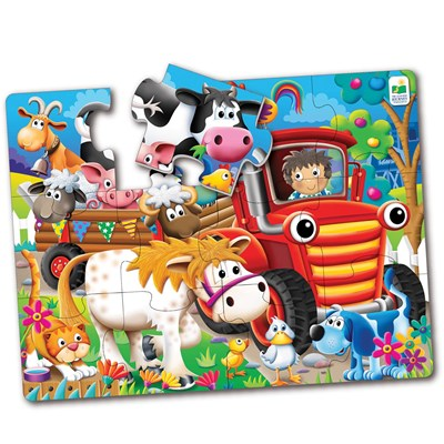 Farm Friends 12-Piece Big Floor Puzzle