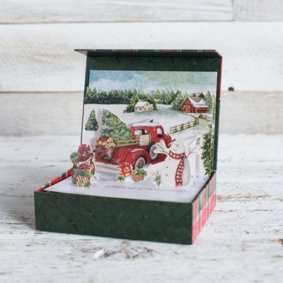 Santa's Truck Pop-Up Boxed Christmas Cards