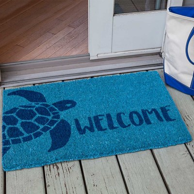 Turtle Handwoven Coconut Fiber Doormat