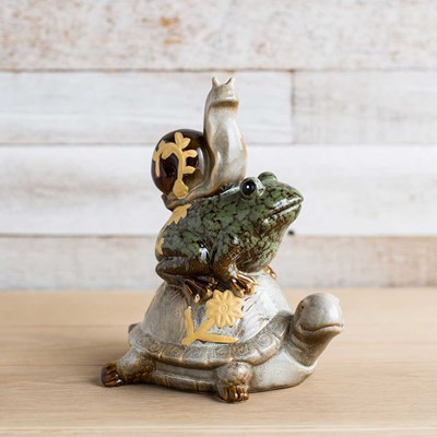 Ceramic Tortoise, Frog and Snail Statue