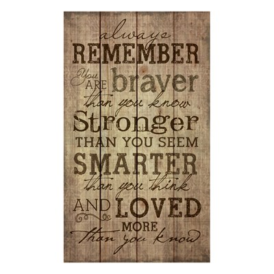 """Always Remember"" Pine Pallet Wall Decor"