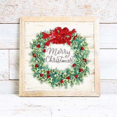 Beaded Merry Christmas Wall Decor