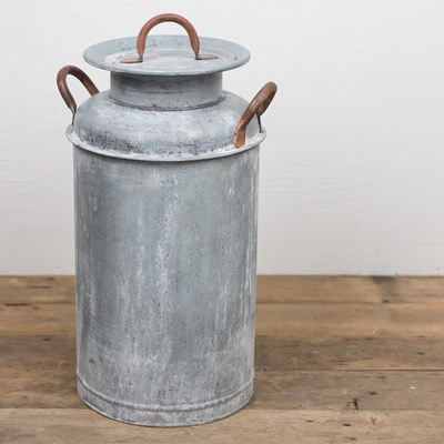 Galvanized Metal Milk Can Bin