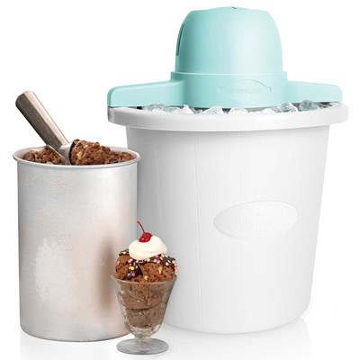 White Bucket Electric Ice Cream Maker
