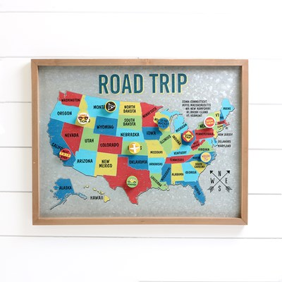 Road Trip Magnet Board with Magnets