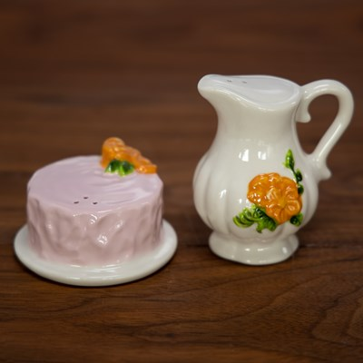 Cake and Pitcher Salt and Pepper Set
