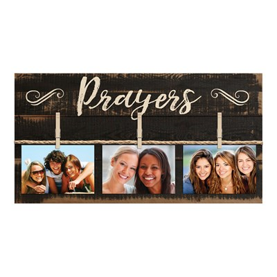 """Prayers"" Photo Board Wall Decor"