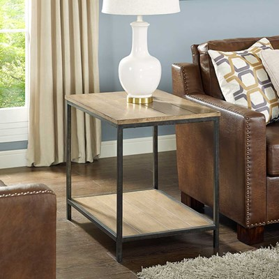 Brooke End Table in Washed Oak