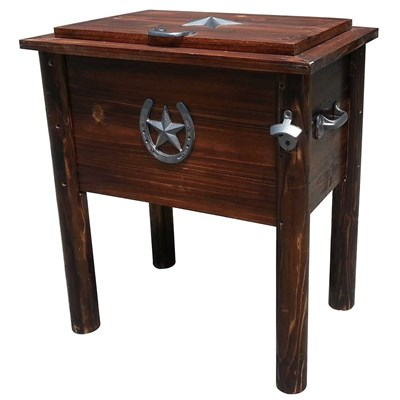 Char-Log Wooden 54-Quart Cooler