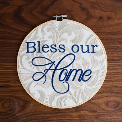 """Bless Our Home"" Embroidery Hoop"
