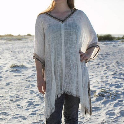 Braid Trim Kaftan Top