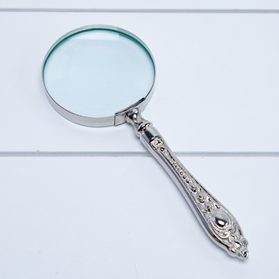 Ornamental Metal Magnifying Glass