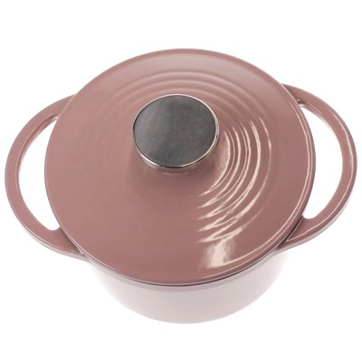 Oh Gussie! Lodge ® 1.5-Quart Pink Enameled Cast Iron Dutch Oven