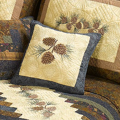 Raising Pine Cone Decorative Pillow by Donna Sharp