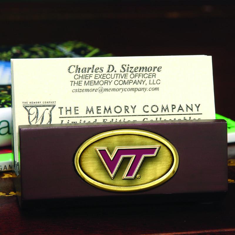 Business Card Holder Virginia Tech College Fans Virginia Tech