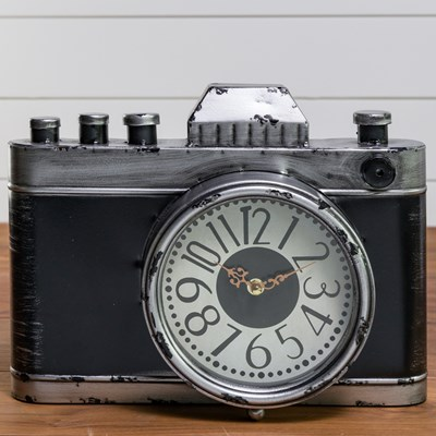 Metal Camera Shaped Clock