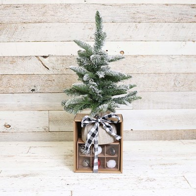 "21"" Tabletop Christmas Tree Set"