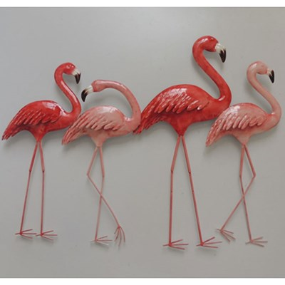 Metal Flamingos Wall Decor