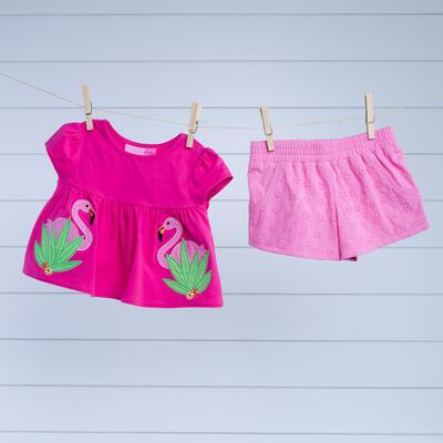 34bfe8947413e Toddler Flamingo Eyelet Set