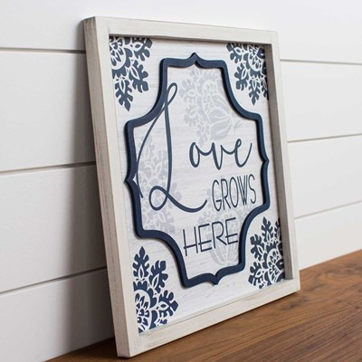 """Love Grows Here"" Wall Decor"