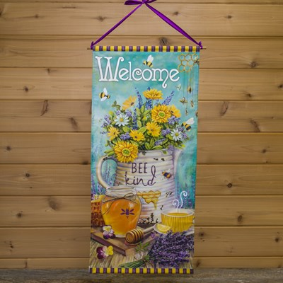 """Welcome"" Canvas Wall Hanging"