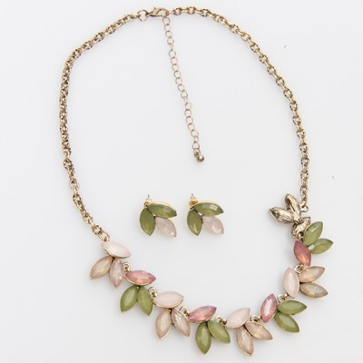 Leaves Earring and Statement Necklace Set