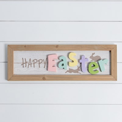 Happy Easter Framed Wall Decor