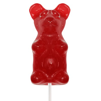 Giant Gummy Bear on a Stick Cherry - 0.5lbs.