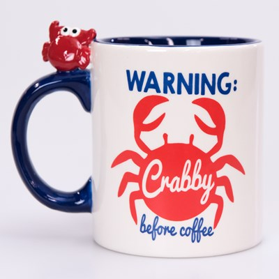 """Crabby Before Coffee"" Mug"