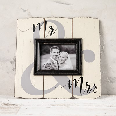 """Mr. & Mrs."" Photo Frame"