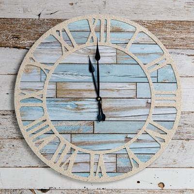 Coastal Wood Wall Clock