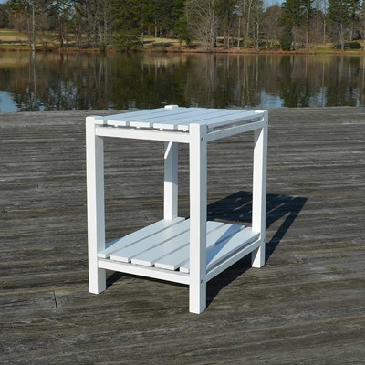 Rutledge Weather-Resistant Side Table - White