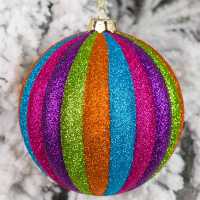 multi color plastic ball ornament - Cracker Barrel Store Christmas Decorations